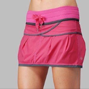 Lululemon Run Personal Best Skirt / Skort Pink 8